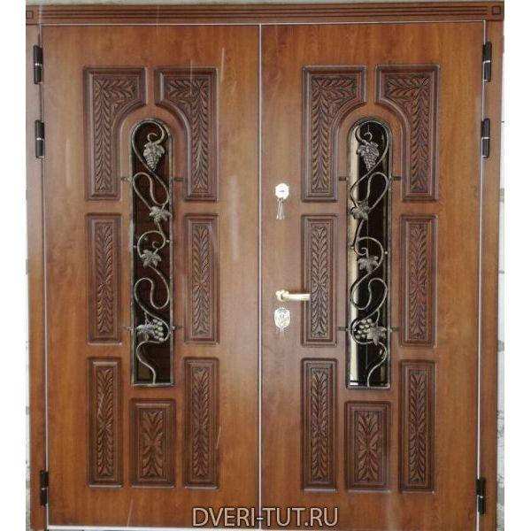 Двупольная дверь Русь в коттедж (симметричная)